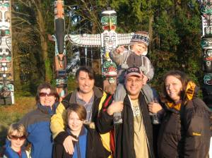Totem Poles with Barb, Rob and young Dylan
